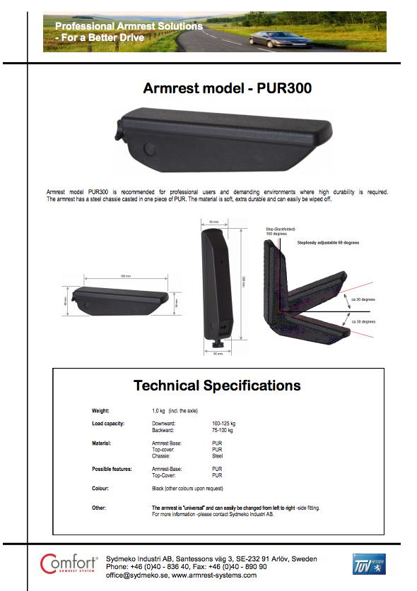 Downloads / Videos | Comfort Armrest System